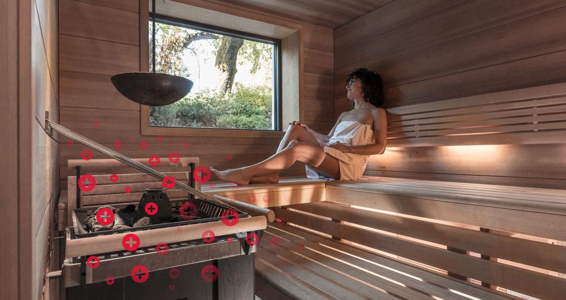 Negative ions in Sauna