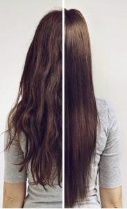 neukrotljivi lasje prej in potem