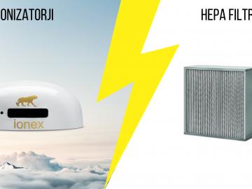Razlika med ionizatorji in čistilci zraka s HEPA filtri